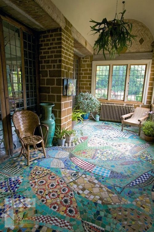 Mosaic tile floors